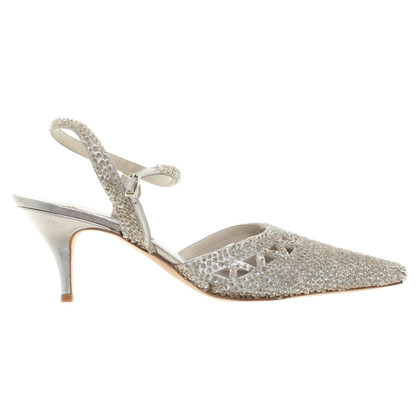 Alberta Ferretti pumps in finitura argento