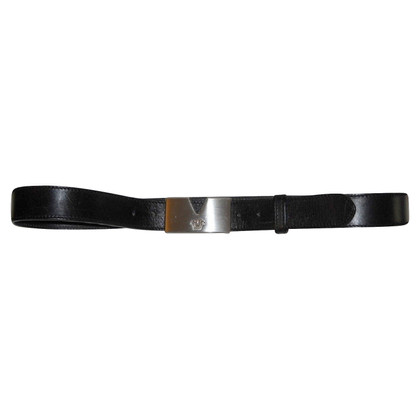 Gianni Versace Black leather belt