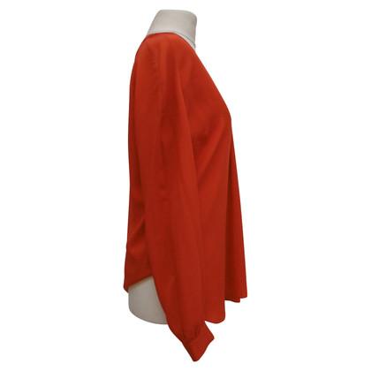 Iris von Arnim Zijden blouse in rood