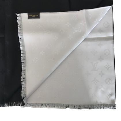 Louis Vuitton Monogram Stole in zwart / White