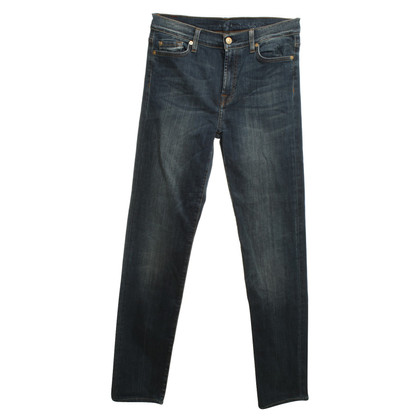 7 For All Mankind Jeans bleu délavé à