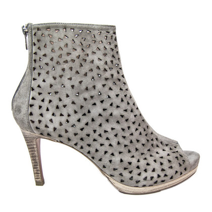 Pura Lopez Peep Toe Boots