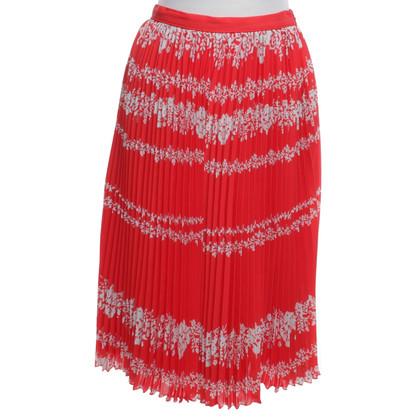 Self-Portrait skirt in red / white