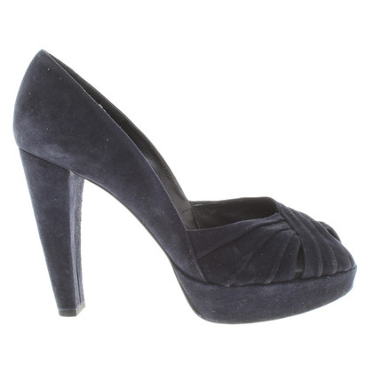 Stuart Weitzman Suede pumps in dark blue