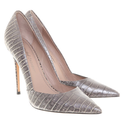 Jean-Michel Cazabat pumps with crocodile leather embossing