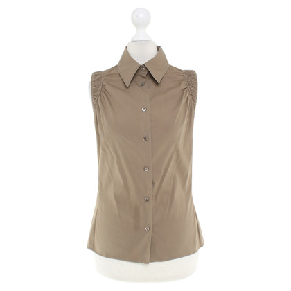 Gucci Sleeveless blouse in olive