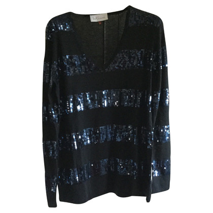 Max Mara blauwe trui met pailletten