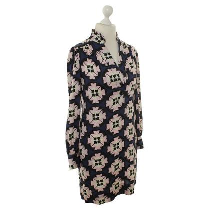 Diane von Furstenberg Abito in seta con motivo floreale
