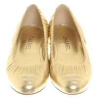 Chanel Gold colored ballerinas