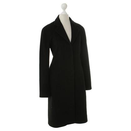 Donna Karan Kasjmier jas in zwart