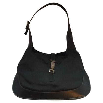 Gucci Handtasche in Schwarz/Silber