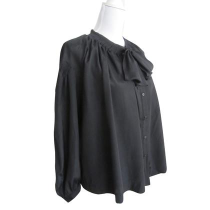 See by Chloé camicetta nera con fiocco