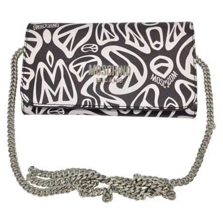 Moschino Bedrucktes Lederportemonnaie / clutch Bunt / Muster Mit Paypal Zu Verkaufen a1nRTEwSOK