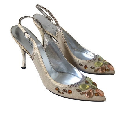 Dolce & Gabbana Python Canvas pumps