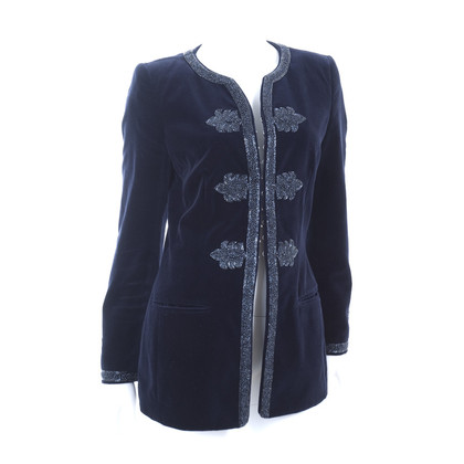 Rena Lange Embroidered velvet jacket