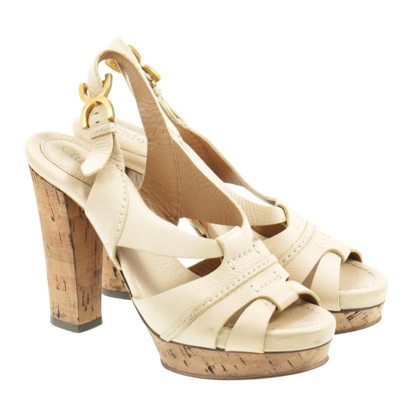chlo sandalette mit korksohle second hand chlo sandalette mit korksohle gebraucht kaufen f r. Black Bedroom Furniture Sets. Home Design Ideas
