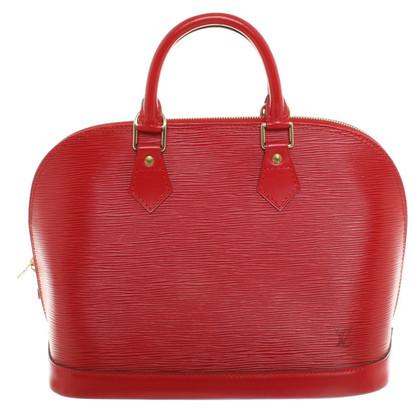 Louis Vuitton Alma handbag in red