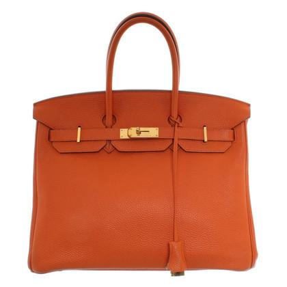 "Hermès ""Birkin Bag 35"" in orange"