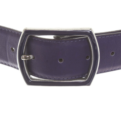 Boss Orange Leather belt in purple