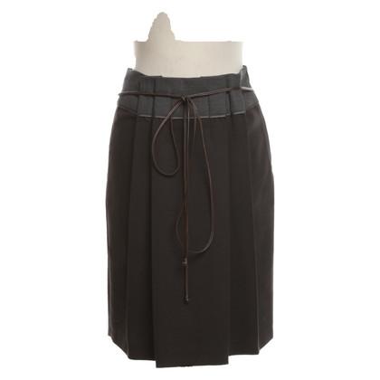 Gunex skirt in brown-grey