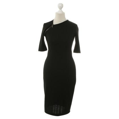 Plein Sud Schwarzes Kleid mit asymmetrischen Reißverschluss