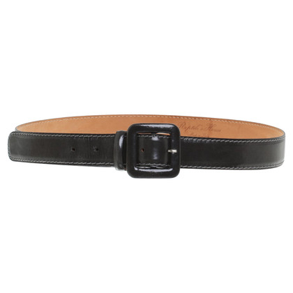 Reptile's House Patent leather belt in anthracite