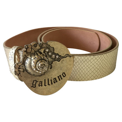 John Galliano Ceinture en cuir de Galliano