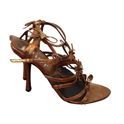 Christian Dior Christian Dior sandals mordorées T.36