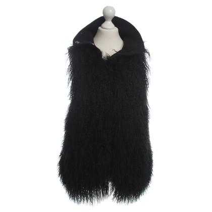 Patrizia Pepe Gilet di pelliccia nero