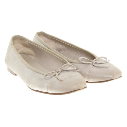 Chanel Ballerinas in beige / metallic