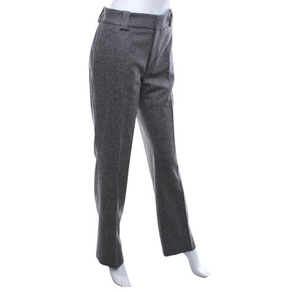 Drykorn Wool trousers with salt-pepper pattern
