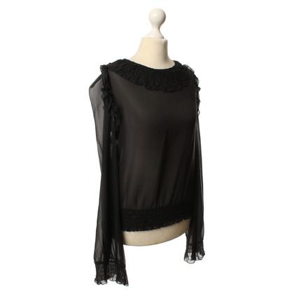 Dolce & Gabbana Transparant Top in zwart