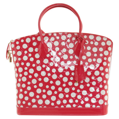 "Louis Vuitton ""Lockit MM infinity dots red & white"""
