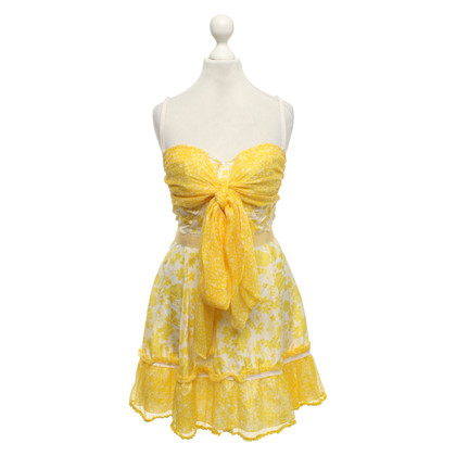 D&G Summer dress in yellow / white