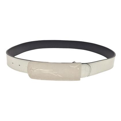 Giuseppe Zanotti White patent leather belt