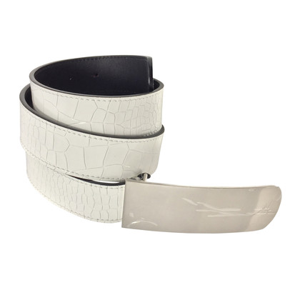 Giuseppe Zanotti cintura di vernice bianca