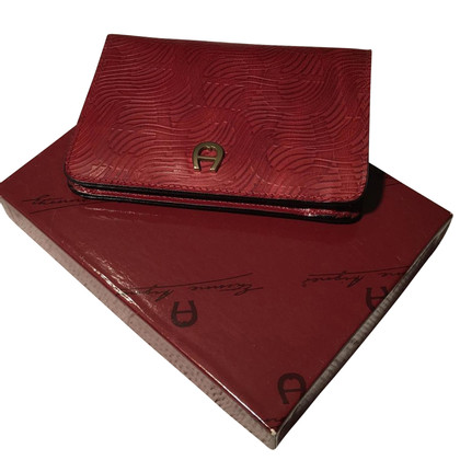 Aigner Bordeaux leather wallet