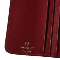 Aigner Bordeaux leather wallet