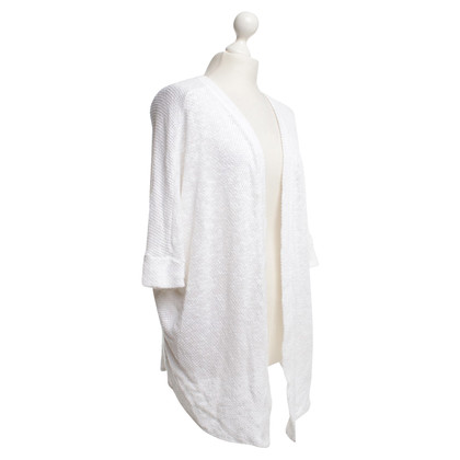 Velvet cardigan maglia in bianco