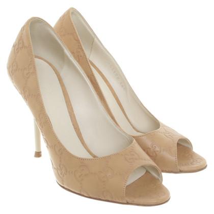 Gucci Peep-toes con modello Guccissima