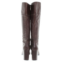 Dolce & Gabbana Leather boots in dark brown