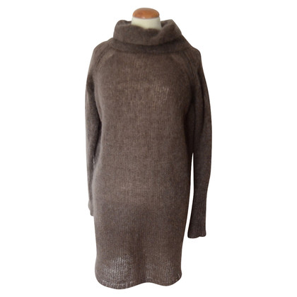 Humanoid taupe mohair turtleneck sweater