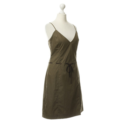 Hugo Boss Cotton dress with leather strap