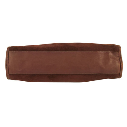 Bottega Veneta Burgundy Suede & Leather Clutch