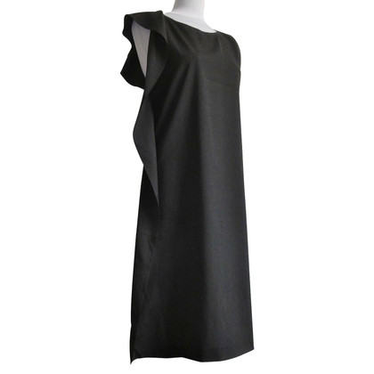 Jil Sander Asymmetrical dress in black