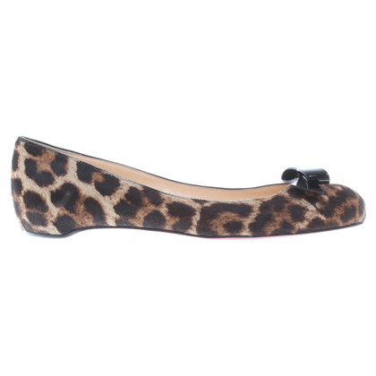 Christian Louboutin Ballerinas mit Animal-Print