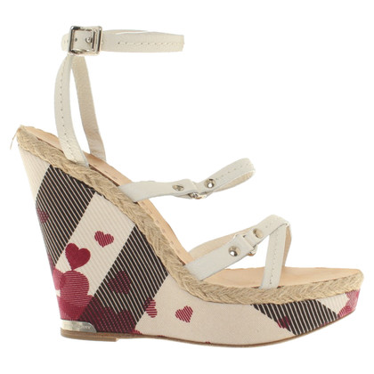 Burberry Wedges with heart motif