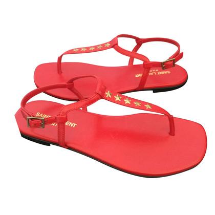 Saint Laurent sandali di cuoio