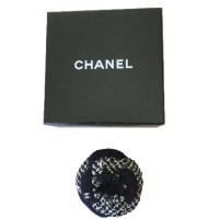 Chanel Camelia tweed and sequins brooch