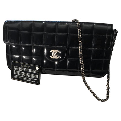 Chanel Black patent Leren clutch